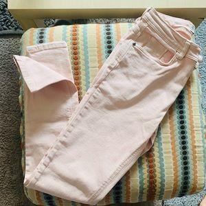 Zara Basic Denim Skinny Jeans - Blush Pink
